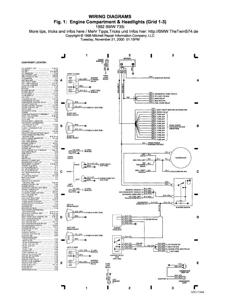 1992 e32 735i wiring diagrams.pdf (816 KB) - Repair manuals - English (EN)BMW club